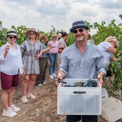 Tour to Bessarabia, Ukraine. At the vineyards in Odessa region. August 2019.