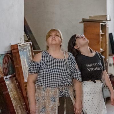 Tour to Bessarabia, Ukraine. Visiting a local church. August 2019.