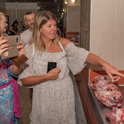 Tour to Bessarabia, Ukraine. Meat market. August 2019.