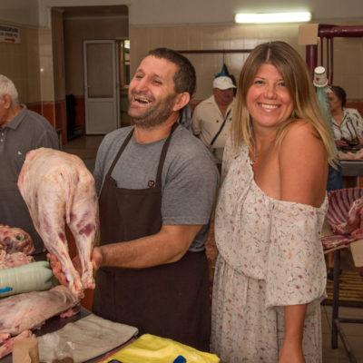 Tour to Bessarabia, Ukraine. Local meat market. August 2019.
