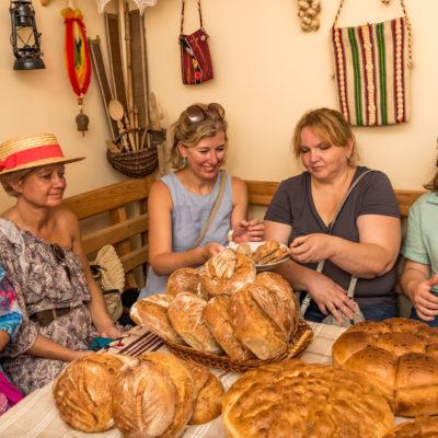 Tour to Bessarabia, Ukraine. Bread tasting. August 2019.